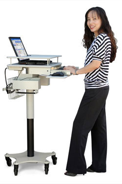Height Adjustable Laptop Cart